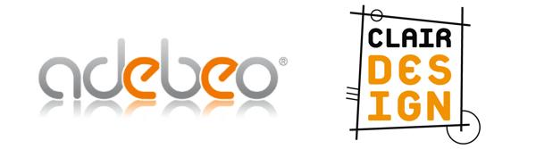 logos adebeo-Clair design